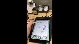 Apple Pencil meets Einstein on Apple Newton MessagePad