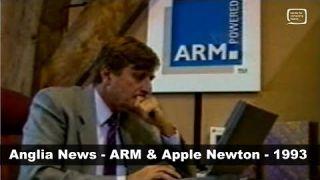 Apple Newton and ARM - Anglia News Business Report 1993